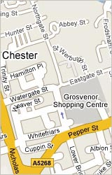 Map of Chester Hotels