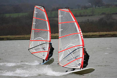 Windsurfing At Manley Mere