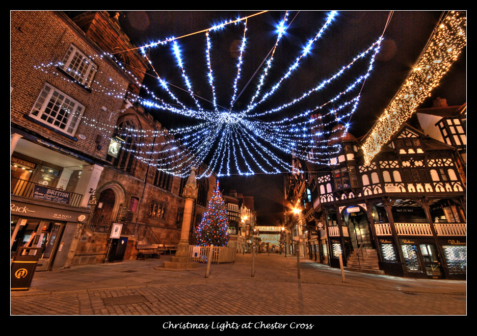 Christmas Lights Chester Cross