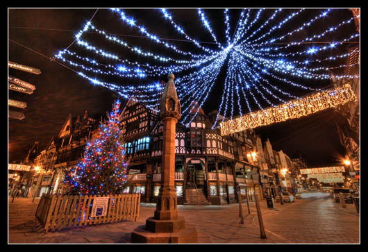 Photo of the Christmas Lights at Chester Cross