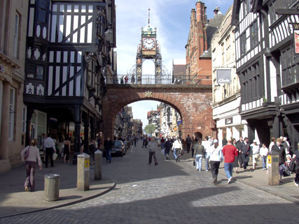 The Eastgate Clock leading into Eastgate