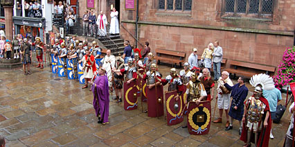 Romans March through Chester